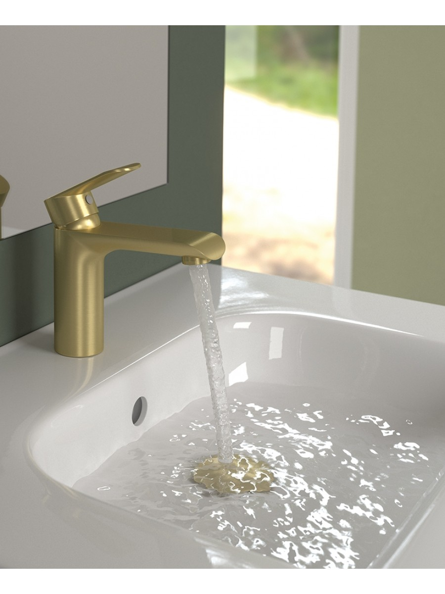 Zania Gold Basin Mixer
