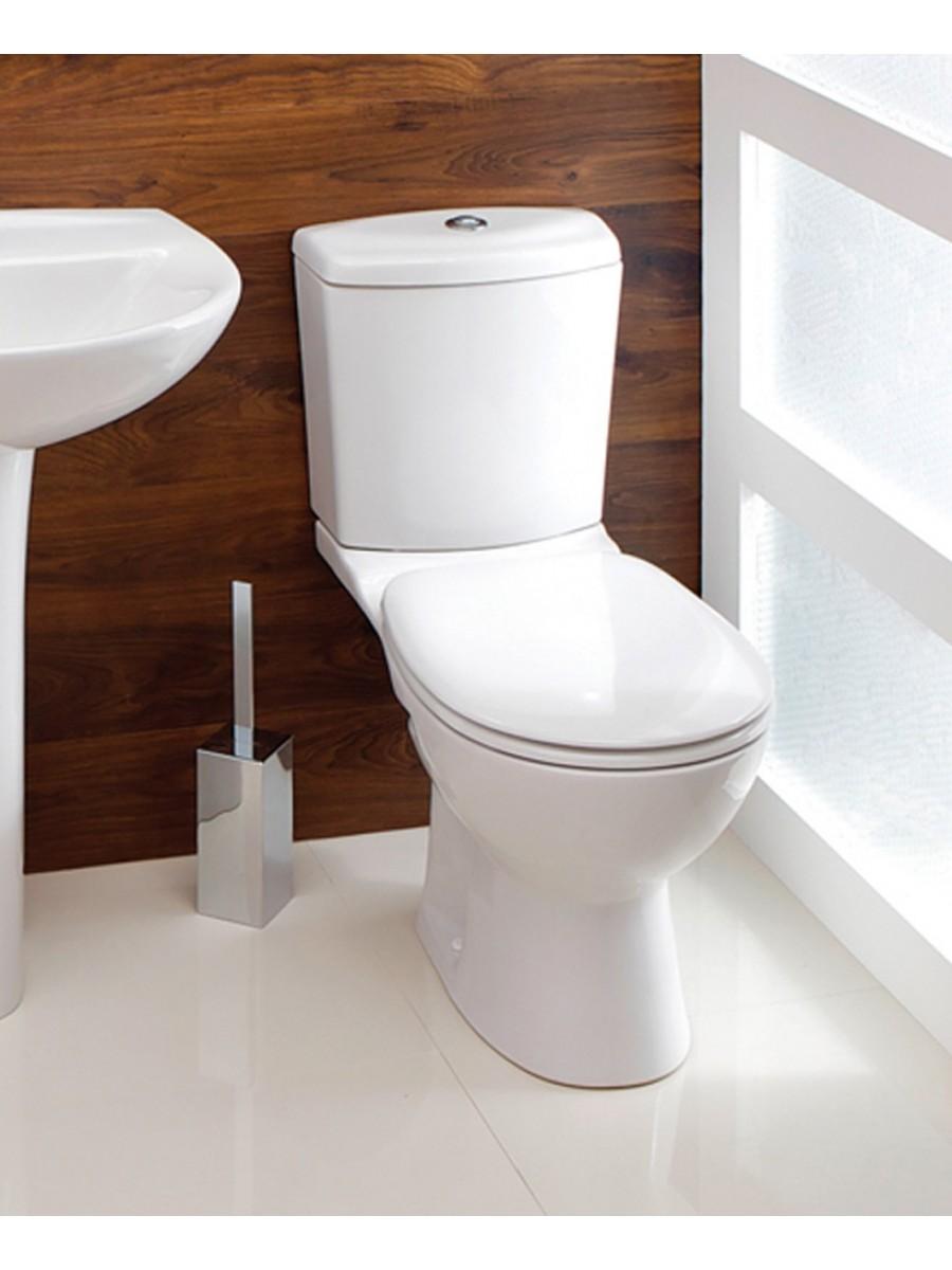 coloured soft close toilet seat.  Siena Close Coupled Toilet Soft Seat