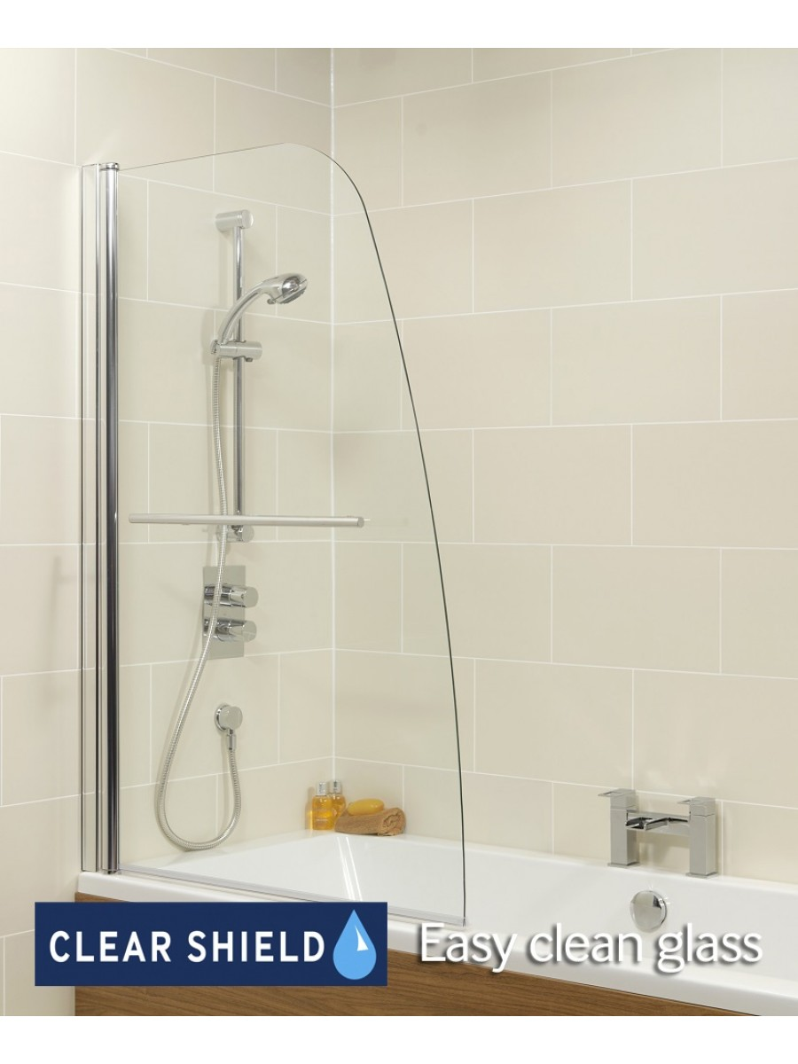 Single Panel Bathscreen with Towel Rail