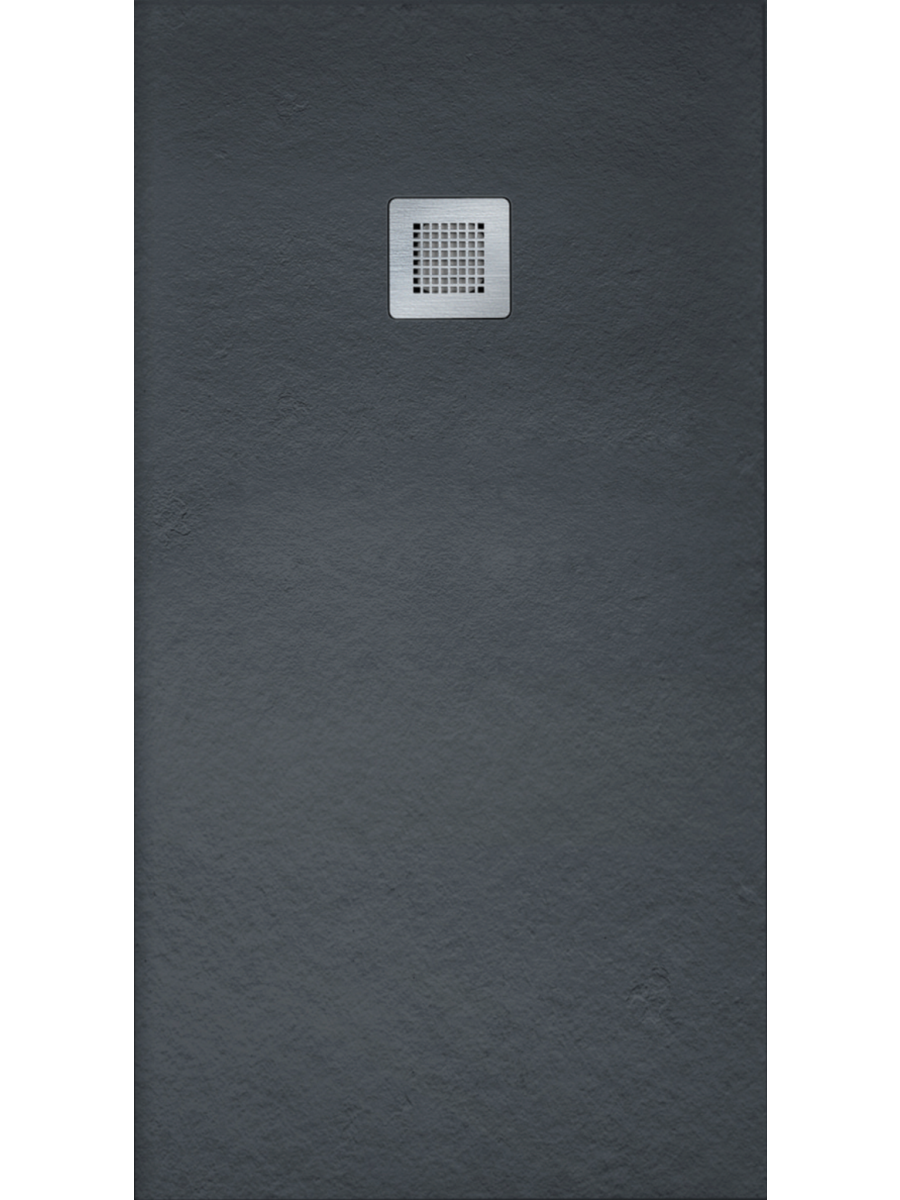 Slate 1700 x 800 Shower Tray Black - with FREE shower waste