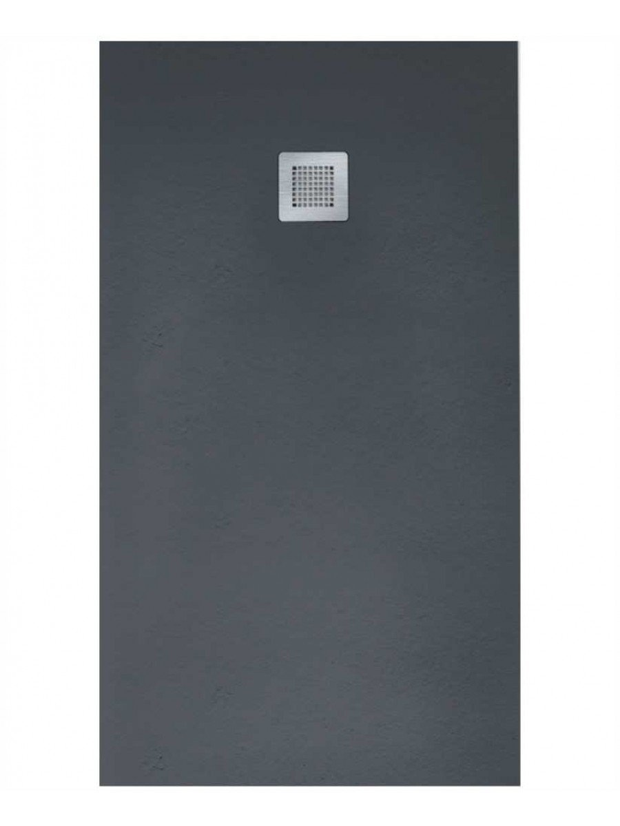 SLATE 1700 x 800 Shower Tray Anthracite - with FREE shower waste
