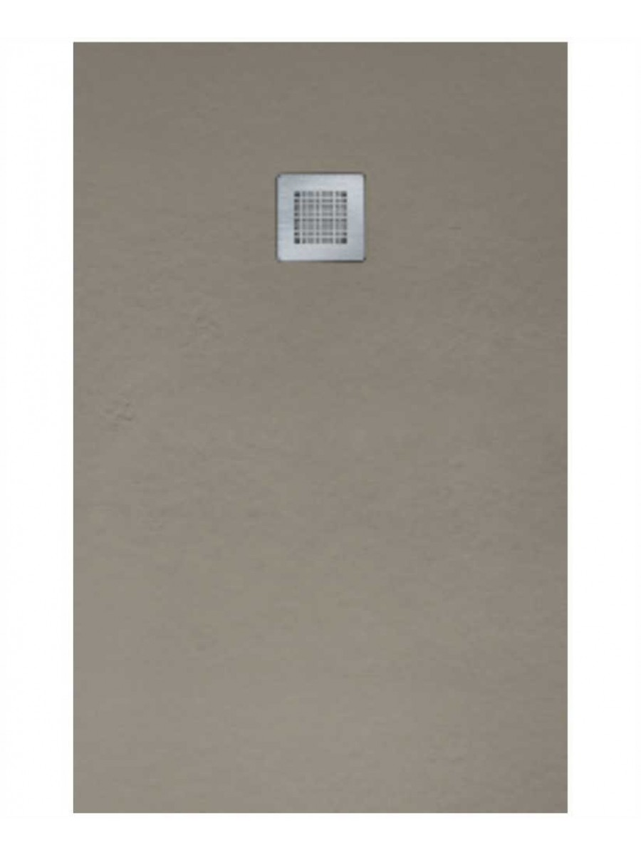 Slate 1000 X 800 Shower Tray Taupe - With Free Shower Waste