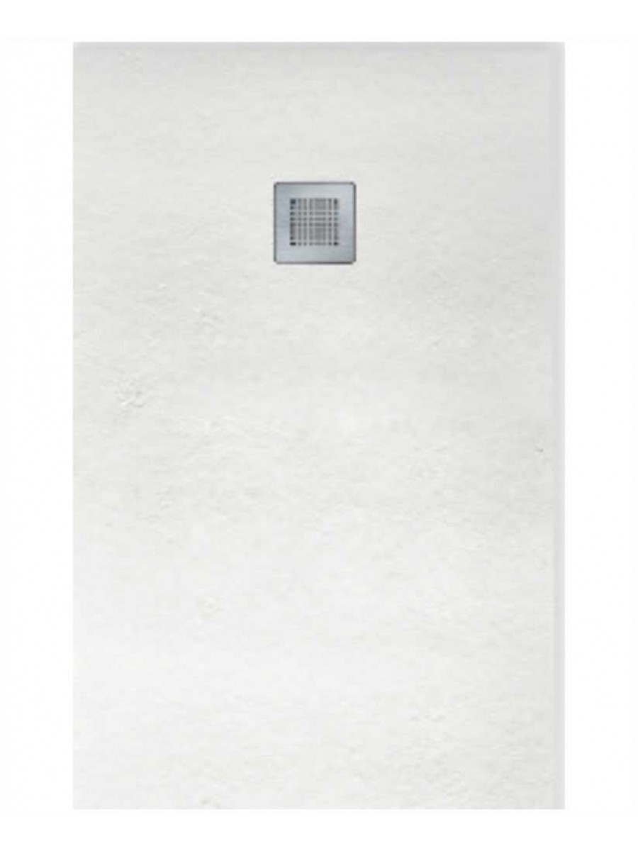 Slate 1000 X 800 Shower Tray White - With Free Shower Waste
