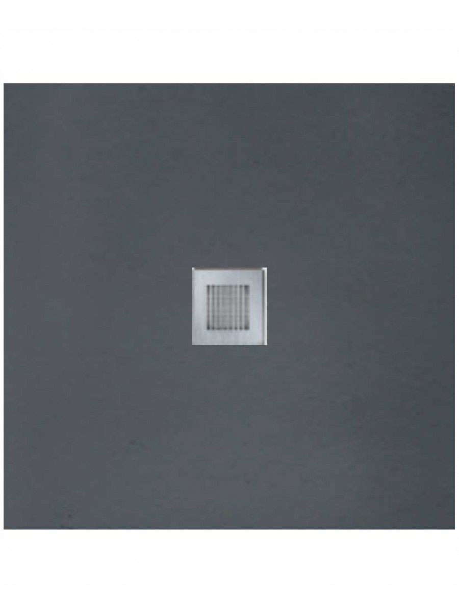 Slate 800 X 800 Shower Tray Anthracite - With Free Shower Waste