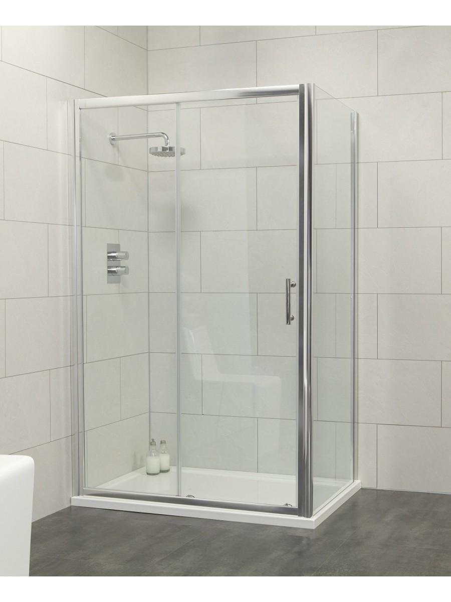 Cello 1000 x 800 sliding shower door - includes 800mm side panel
