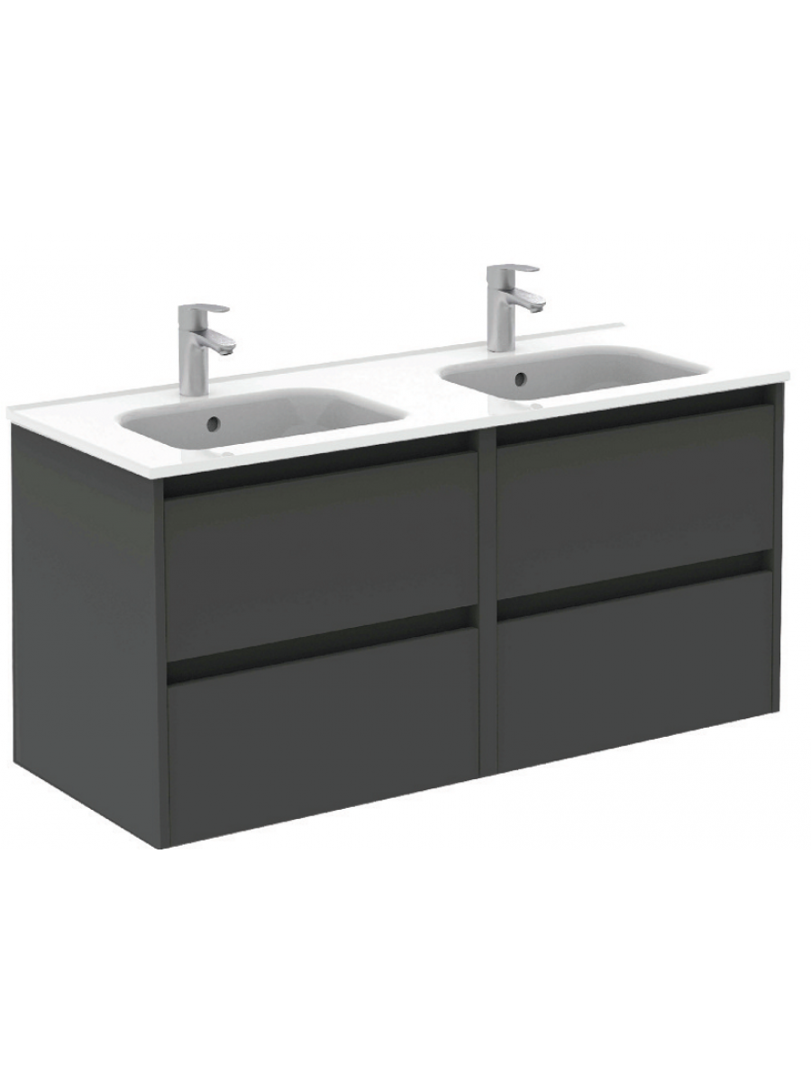 Sparta Anthracite 120cm Vanity Unit 4 Drawer & Slim Basin