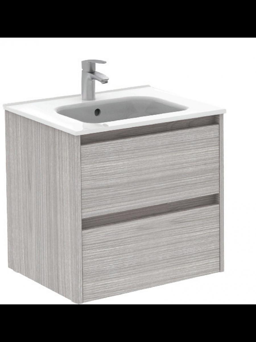 Sparta Sandy Grey 60cm Vanity Unit 2 Drawer & Slim Basin