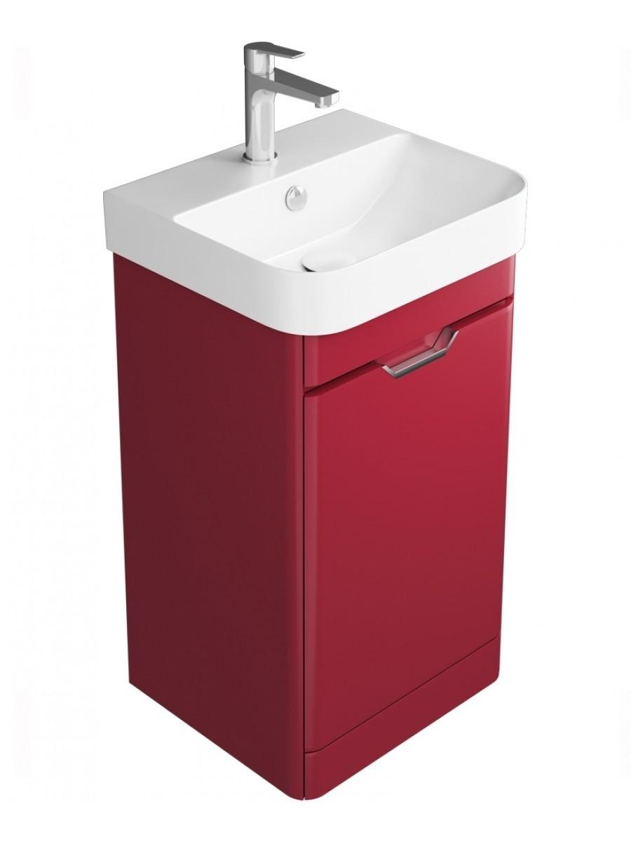 Aquiana Red Floor Standing 48 Vanity Unit - 1 Door ** Further Reductions
