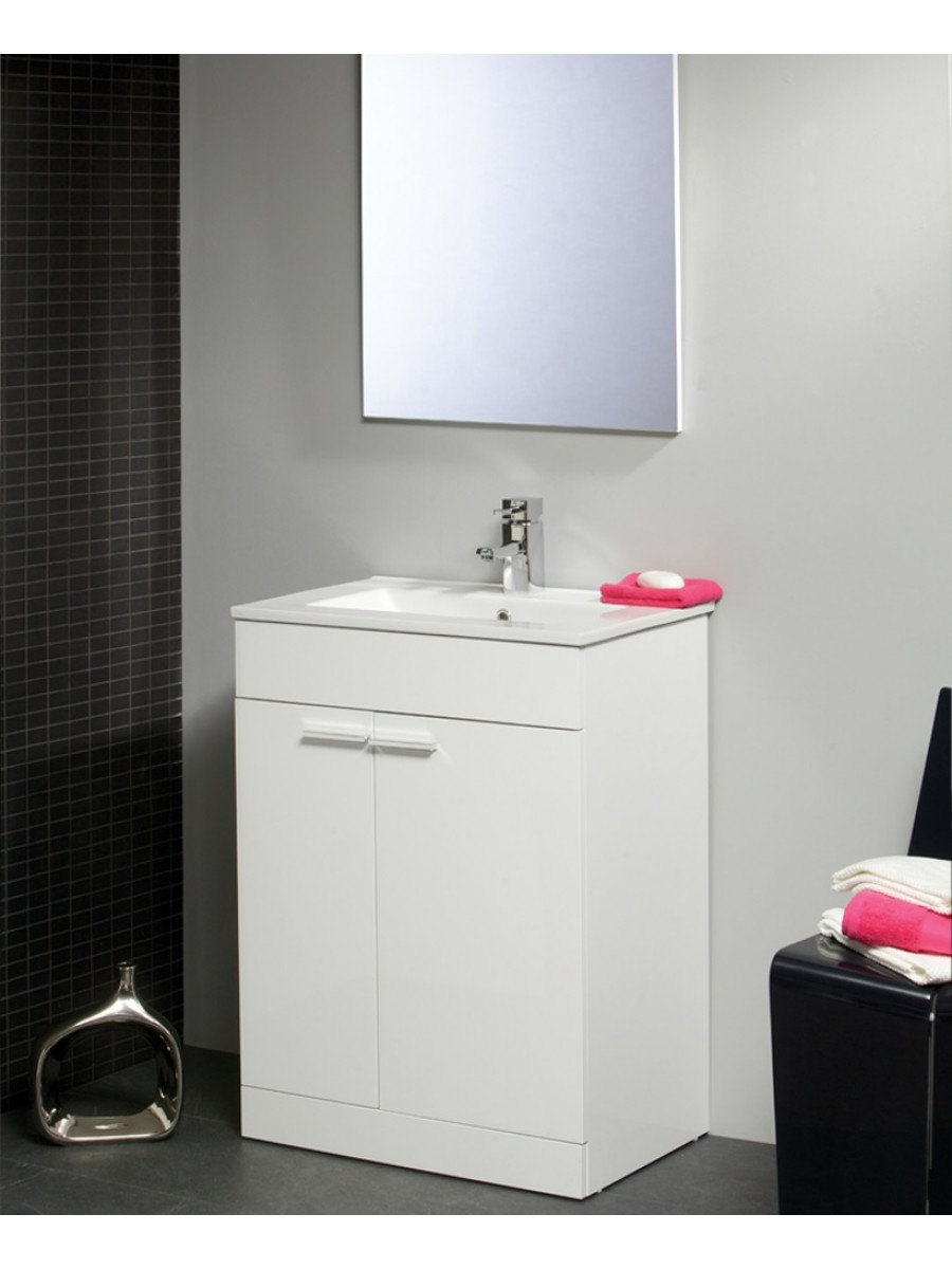 Spain 60cm Vanity Unit & Basin With Mirror** an extra 10% off with code EASTER10