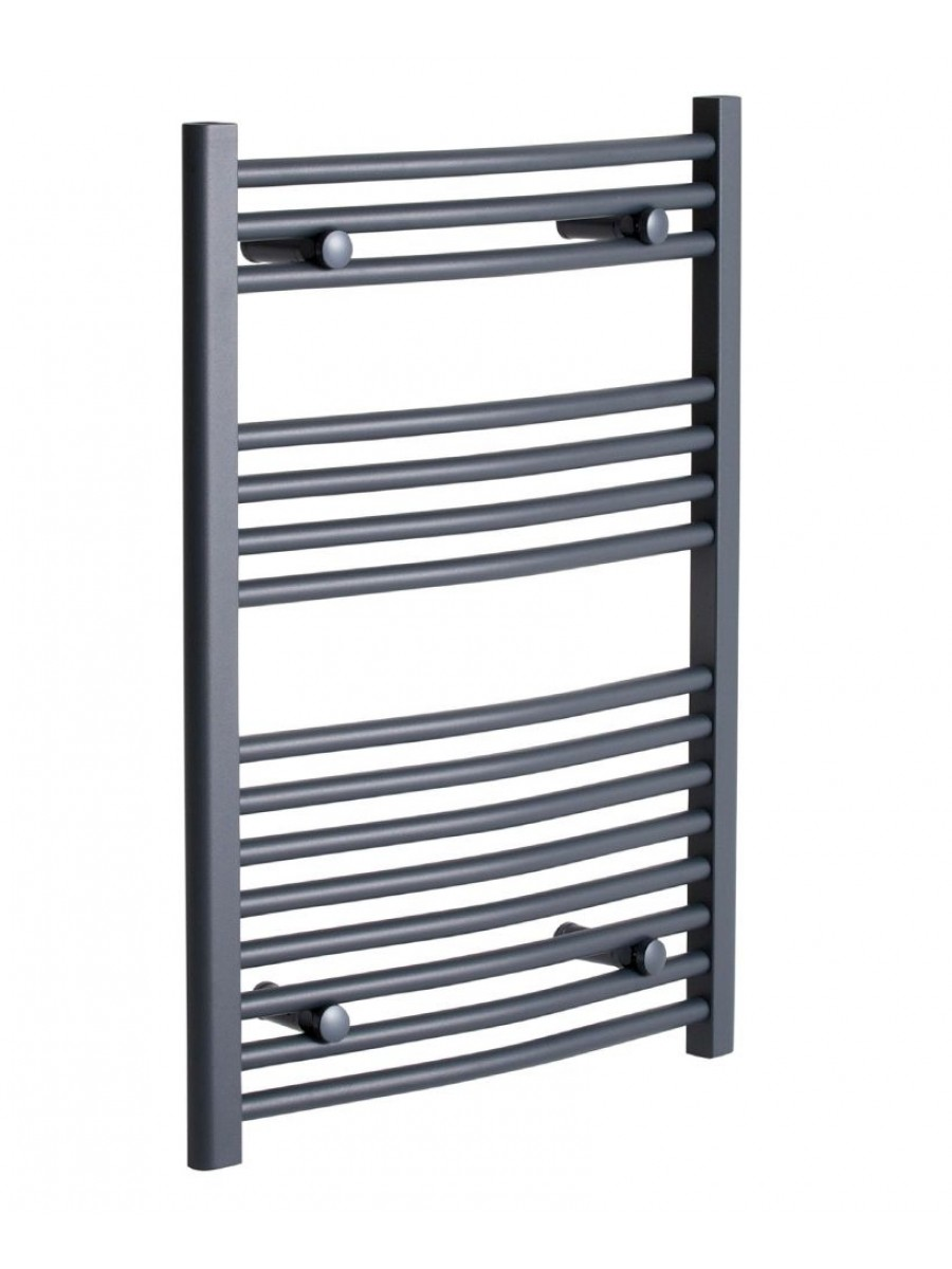 Curved 800 x 500 Heated Towel Rail Anthracite
