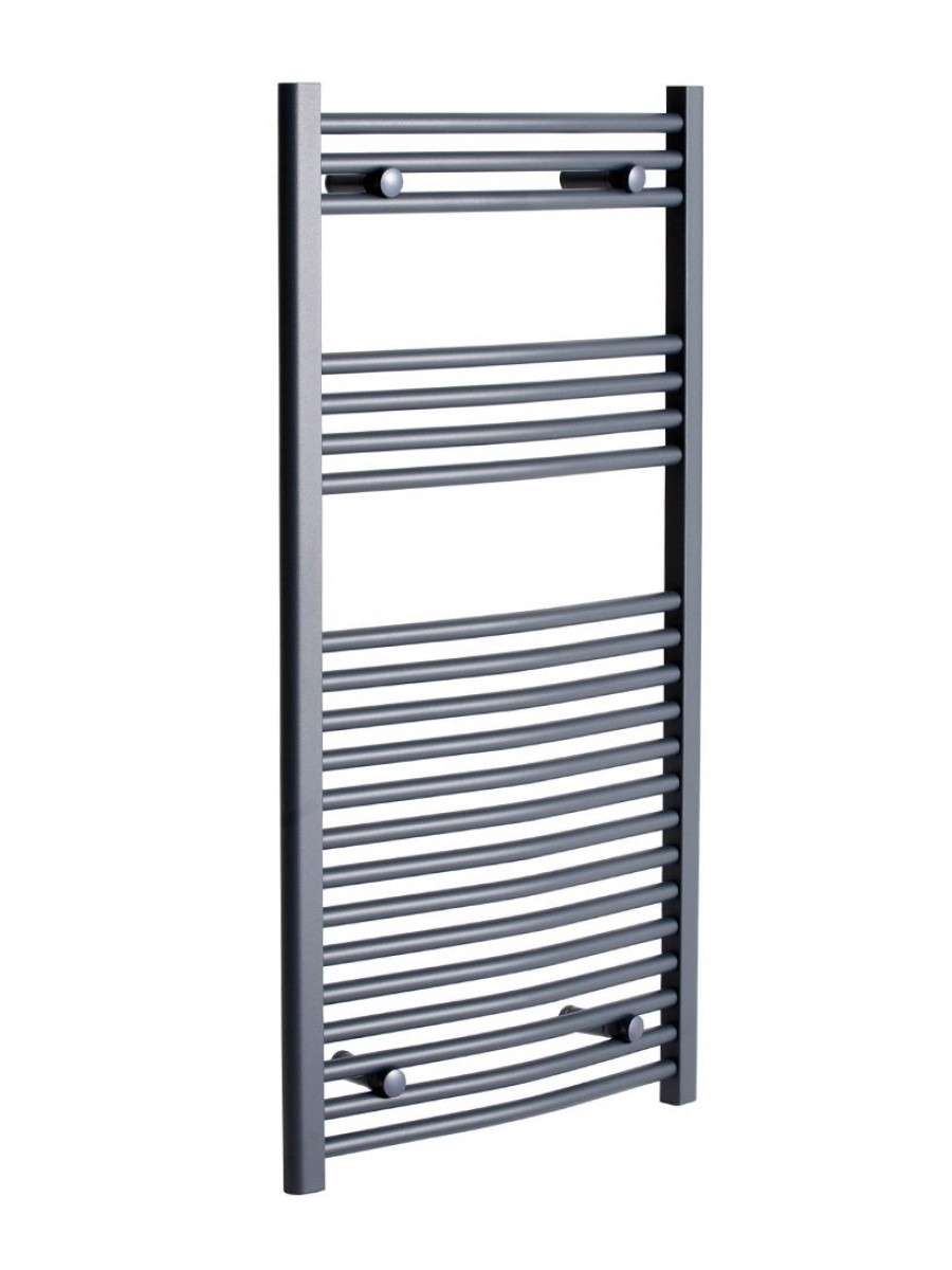 Curved 1200x600 Heated Towel Rail Anthracite