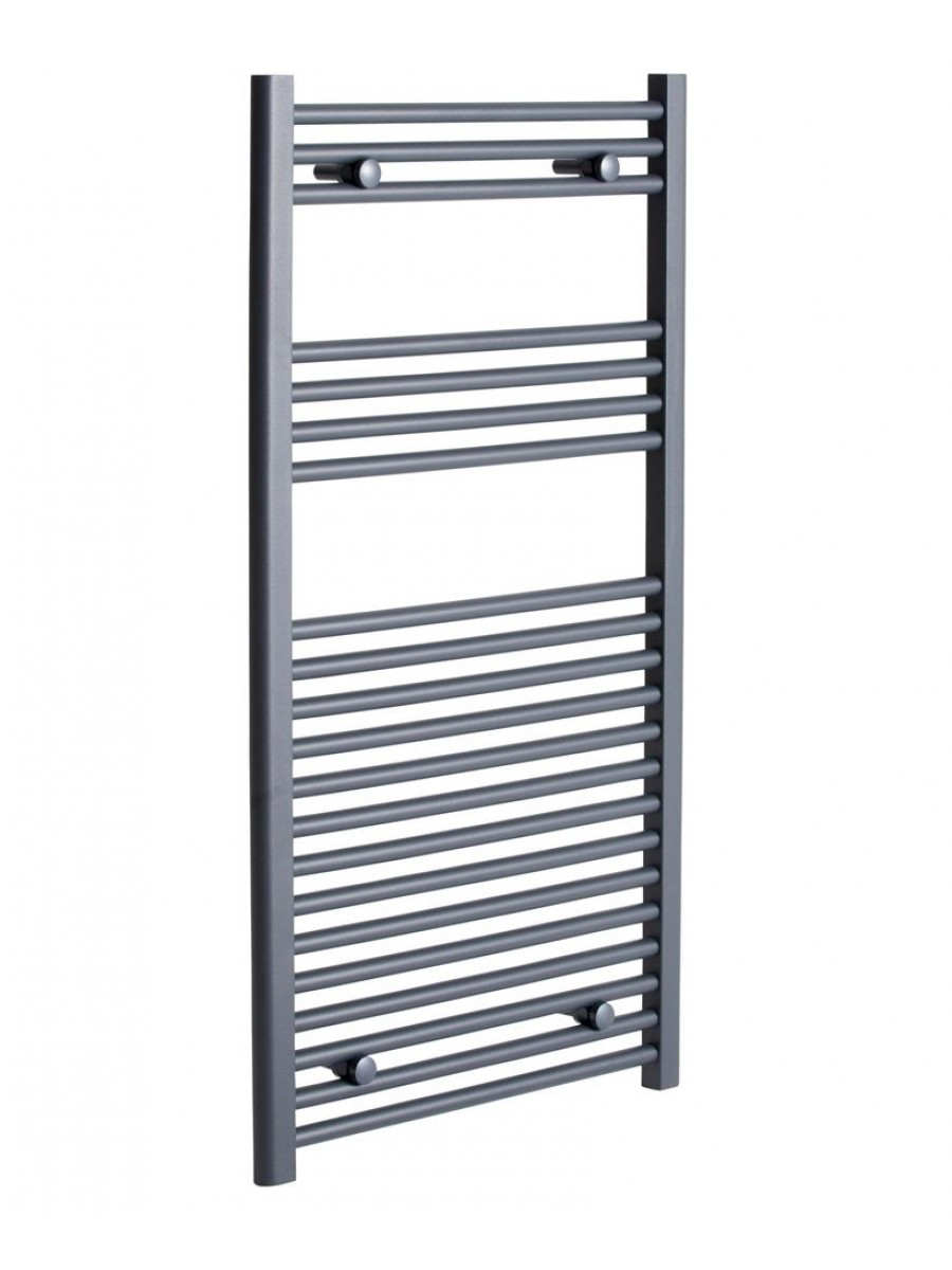 Straight 1200x600 Heated Towel Rail Anthracite