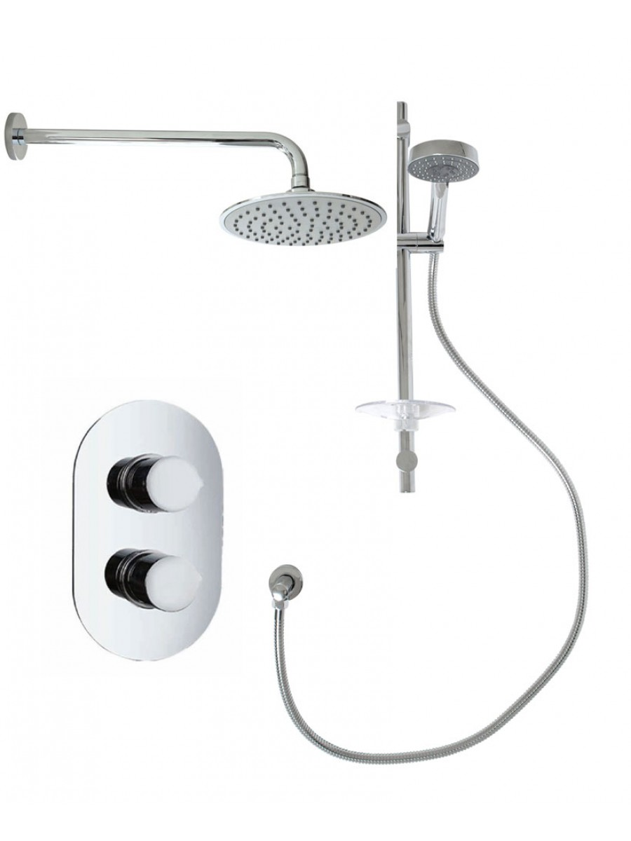 Jupiter Oval Thermostatic Shower Kit G