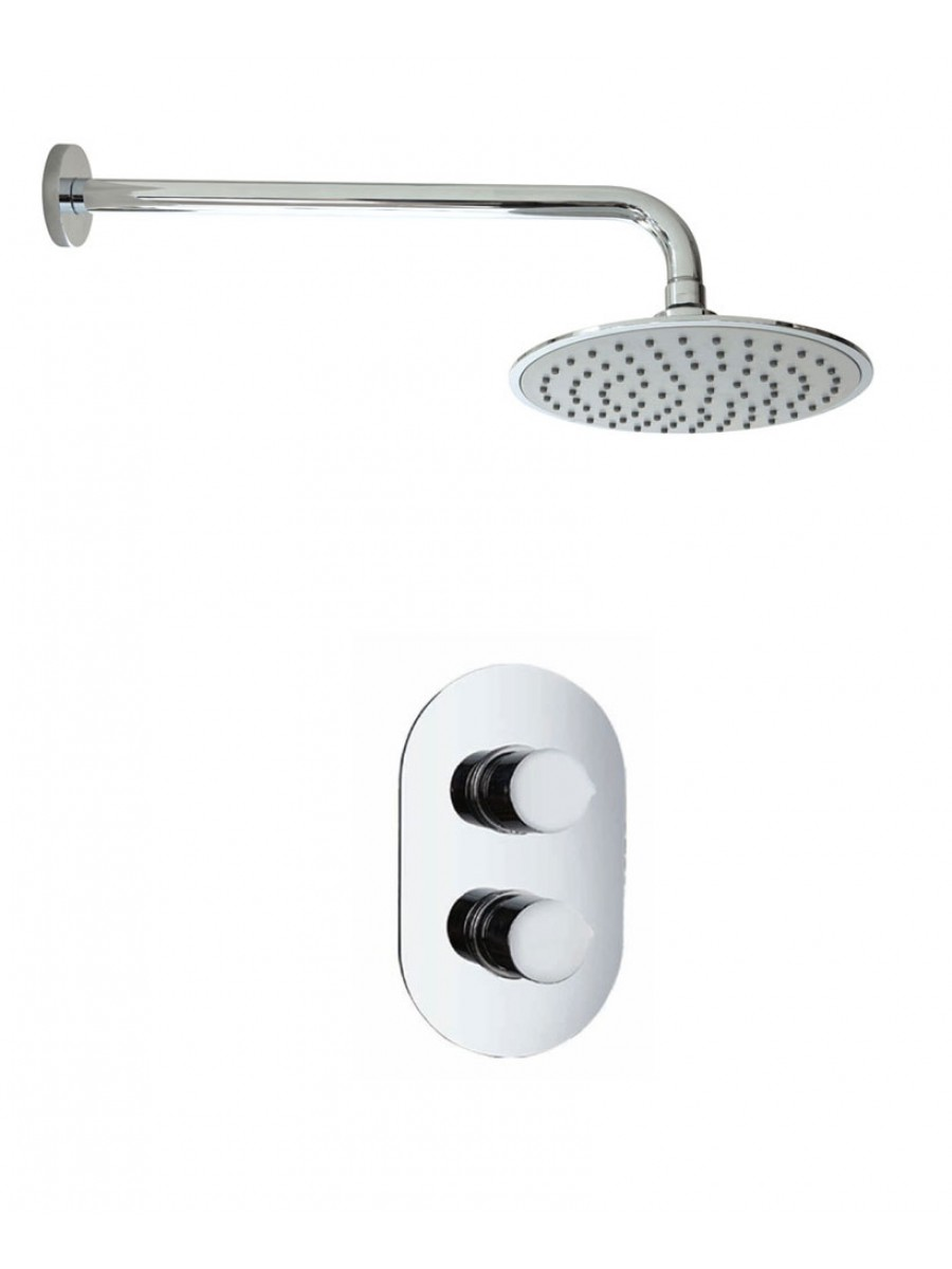 Jupiter Oval Thermostatic Shower Kit K