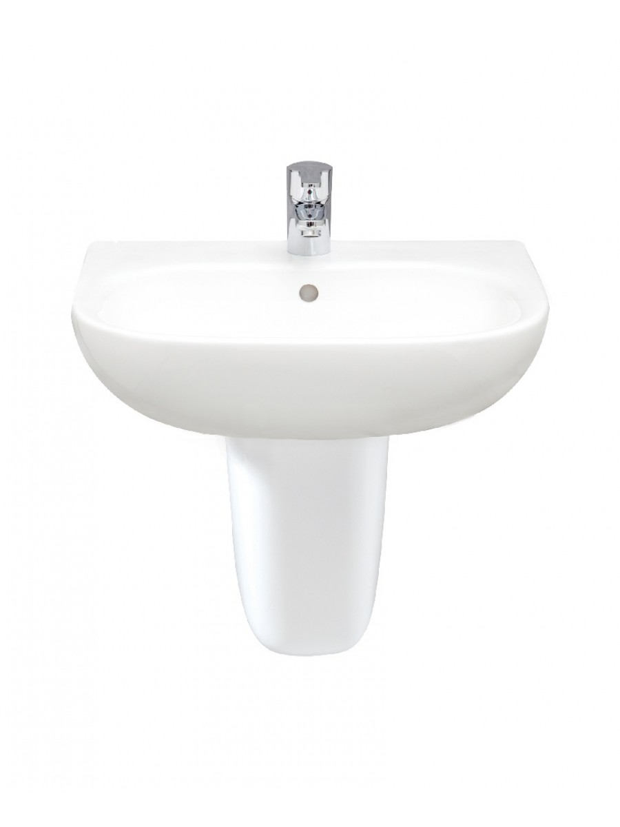 RAK Tonique 55cm Washbasin With Semi Pedestal