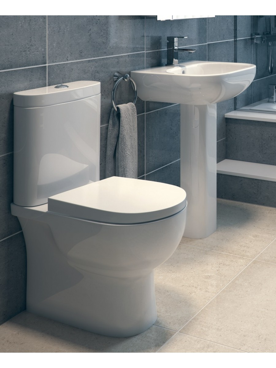Toilet and wash basin sets rak tonique toilet and for Washroom set