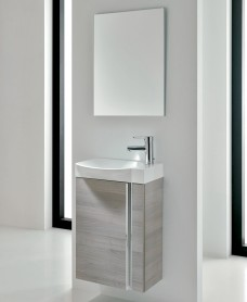 Bern 45 cm Sandy Grey Wall Hung Vanity Pack with Mirror