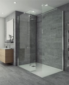 Salon Range 300mm Wetroom Fixed Return Panel