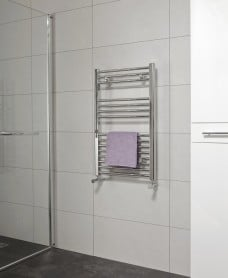 Straight 800x500 Heated Towel Rail Chrome *A Further 10% off with Code BF10