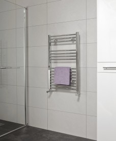 Straight 800x600 Heated Towel Rail Chrome *A Further 10% off with Code BF10