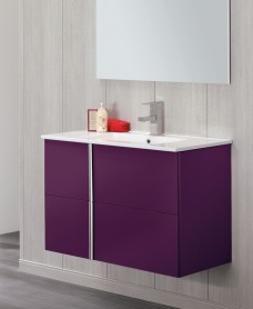 Athena Aubergine 60cm Vanity Unit 2 Drawer and Sink