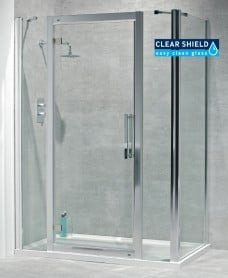 Avante 8mm 1500mm Hinged Shower Door and Double Infill Panel - Adjustment 1440-1500mm