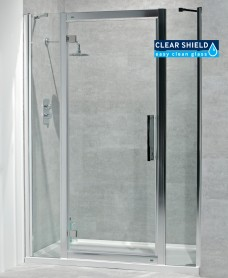 Avante 8mm 1600mm Hinged Shower Door and Double Infill Panel - Adjustment 1540-1600mm
