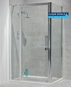 Avante 8mm 1100 x 800 Hinged Shower Door with Single Infill Panel