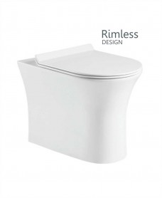 Angela Back to Wall Rimless WC with Quick Release Soft Closing SLIM Seat