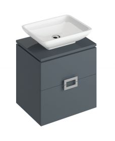 Ava Antracite 55 CounterTop Vanity Unit and Aimee Basin