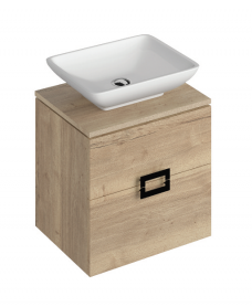 Ava Halifax Oak 55 Vanity Unit and AIMEE Countertop Basin