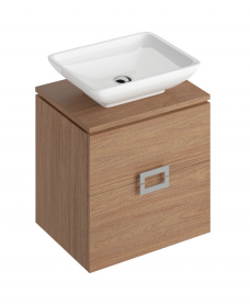 Ava Walnut 55 CounterTop Vanity Unit and AIMEE Basin