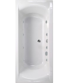 Oxford 1700x750 Double Ended 8 Jet Whirlpool Bath