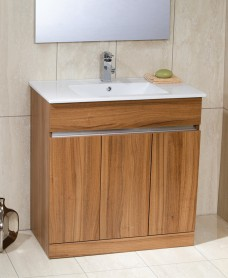 Attica Walnut 80cm Vanity Unit & Totano Washbasin