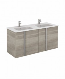 Athena 120cm Sandy Grey Double Vanity Unit with SLIM Basin -  Doors