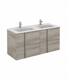 Athena 120cm Sandy Grey Double Vanity Unit with SLIM Basin -  Drawers