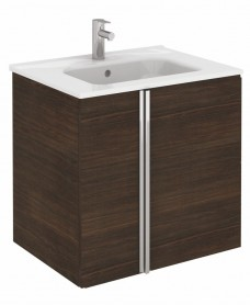 Athena Sandy Wenge 2 Door 60cm Wall Hung Vanity Unit and Slim Basin