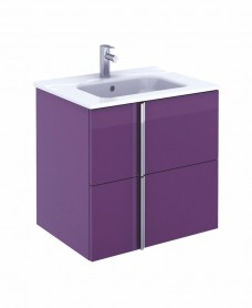Athena 60cm Aubergine Vanity Unit with SLIM Basin - Drawers