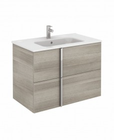 Athena 80cm Sandy Grey Vanity Unit with SLIM Basin - Drawers