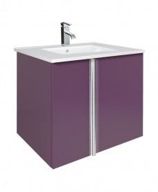 Athena Aubergine 60cm Vanity Unit 2 Door and Basin