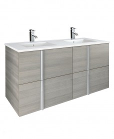 Athena Sandy Grey 120cm  Double Vanity Unit and Basin - 4 Drawer