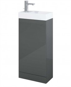 Space 40cm Gloss Grey Floor Standing Unit & Cloakroom Basin