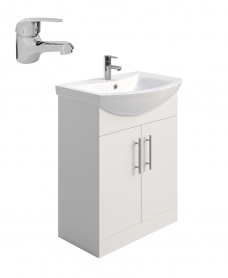 Blanco 65cm Vanity Unit,  Basin & Tap