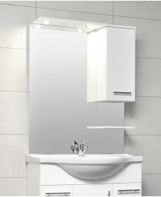 Blanco White 80cm White Mirror with LED Light & Pullcord