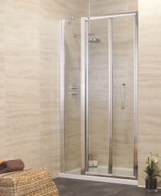 Rival 760 Bifold Door and JT Ultracast Shower Tray