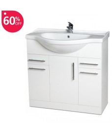 Blanco 85cm Vanity Unit, Basin & Tap & Basin Waste