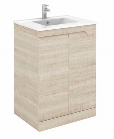 Pravia Maple 60 cm Floor Standing Vanity Unit and SLIM Basins
