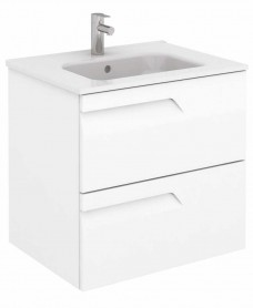 Pravia White 60 cm Wall Hung Vanity Unit and SLIM Basin