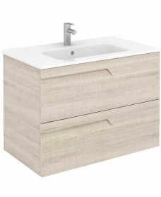 Pravia Maple 80 cm Wall Hung Vanity Unit and SLIM Basin