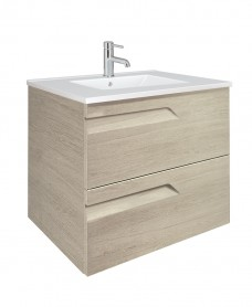 Pravia Maple 60cm Vanity Unit 2 Drawer and Basin - ** 60% Off **